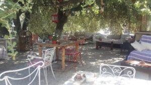 Bodrum yaz-kış cafe terasta kahvaltı