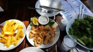 Arriba restoran Gümüşlük, öğle yemeği menüsü
